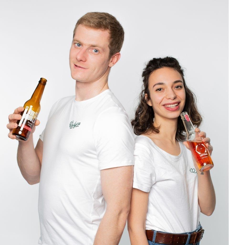Camille et Pierre-Antoine, co-fondateurs de Calyce, la boutique de cidre en ligne