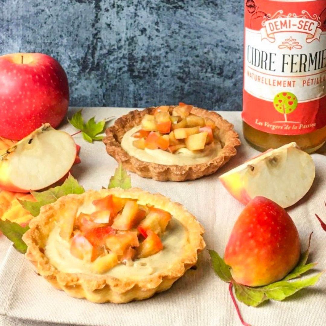 Tartelettes Pommes au Cidre et Cannelle