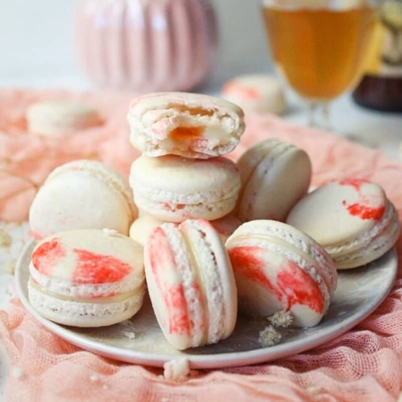 Macaron cidre et chocolat blanc
